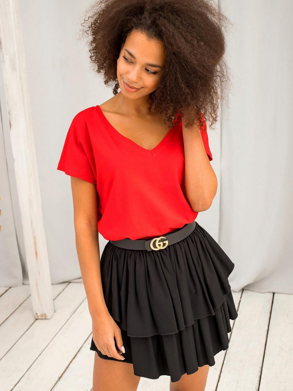 Czerwony t-shirt V-Neck Gala 1
