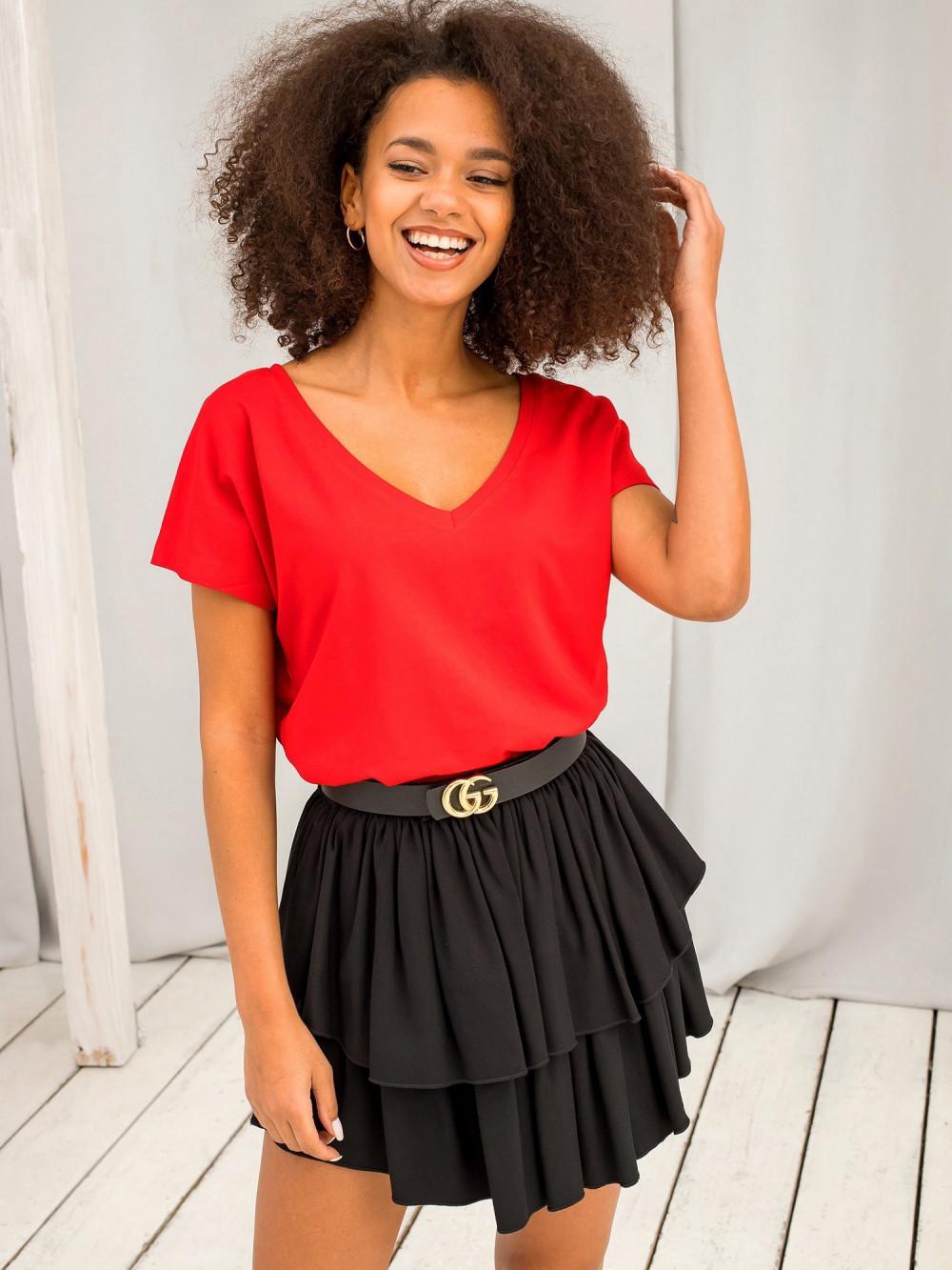 Czerwony t-shirt V-Neck Gala 2
