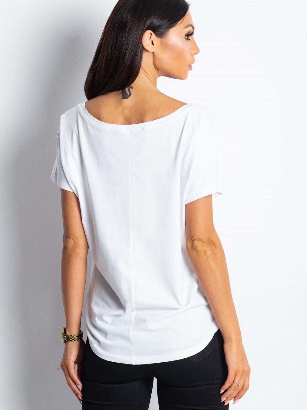 Biały t-shirt V-Neck Gala 3