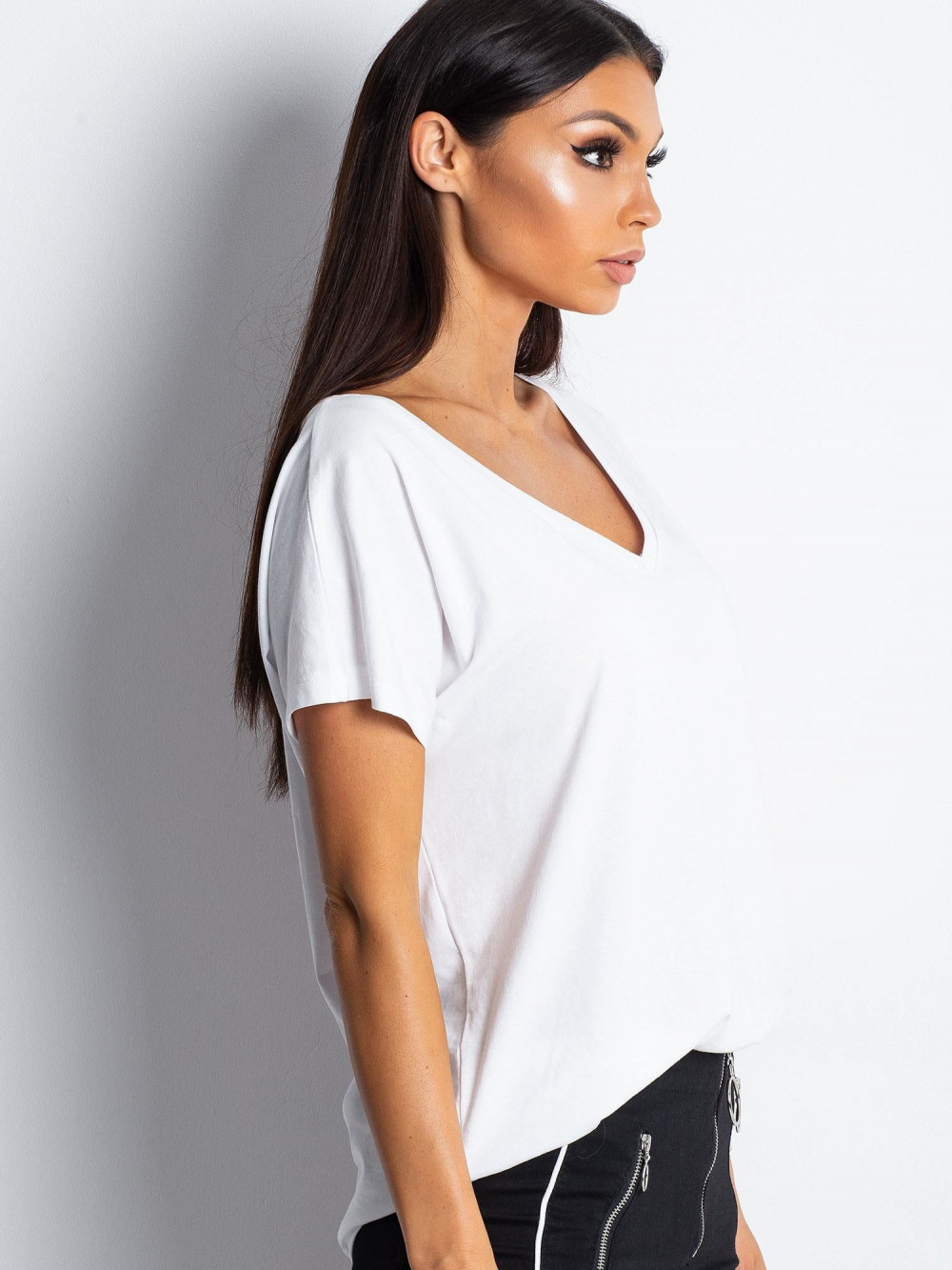 Biały t-shirt V-Neck Gala 2