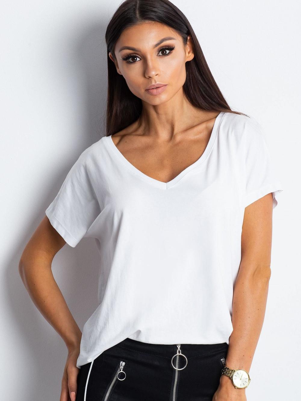 Biały t-shirt V-Neck Gala 1