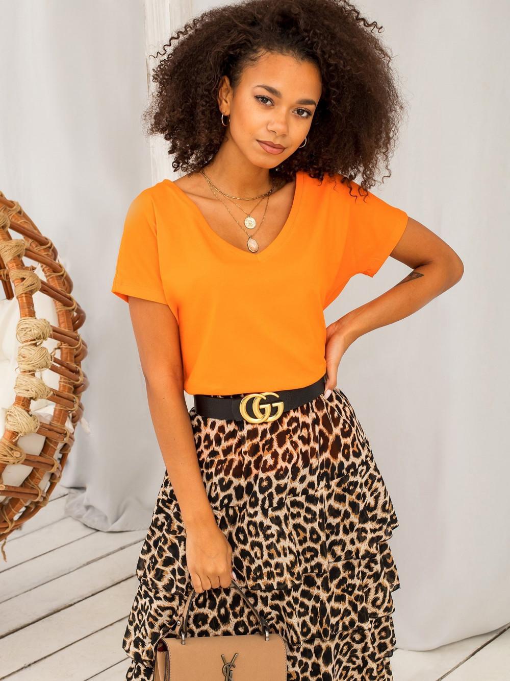 Neonowo pomarańczowy t-shirt V-Neck Gala 2