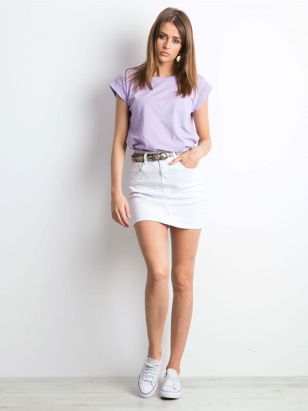 Fioletowy t-shirt z zawijanymi rękawkami Nami 3