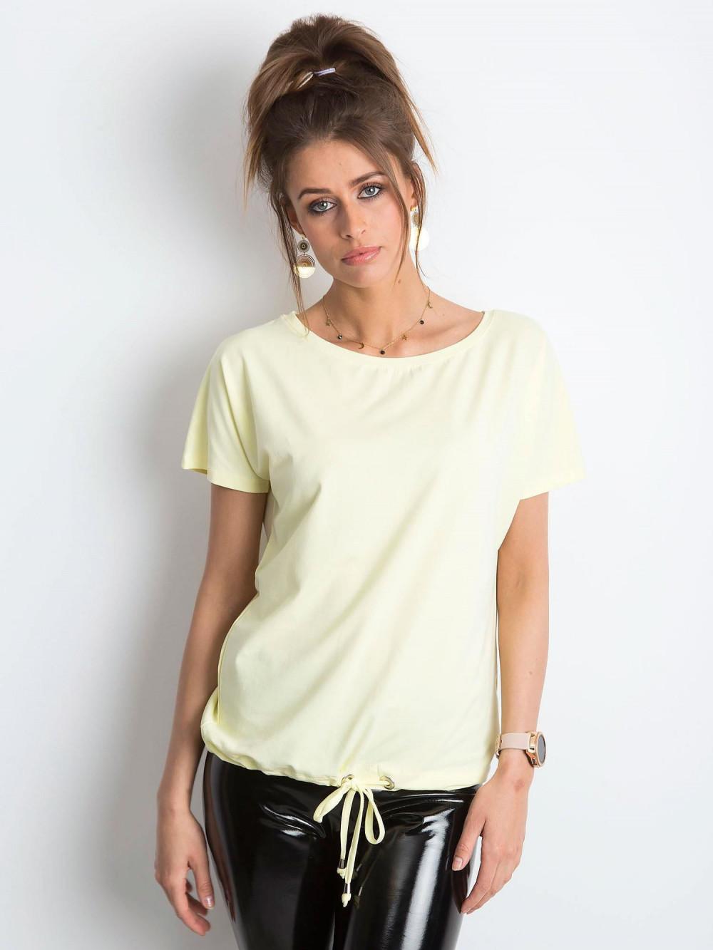 Jasnożółty t-shirt z wiązaniem Faso 1