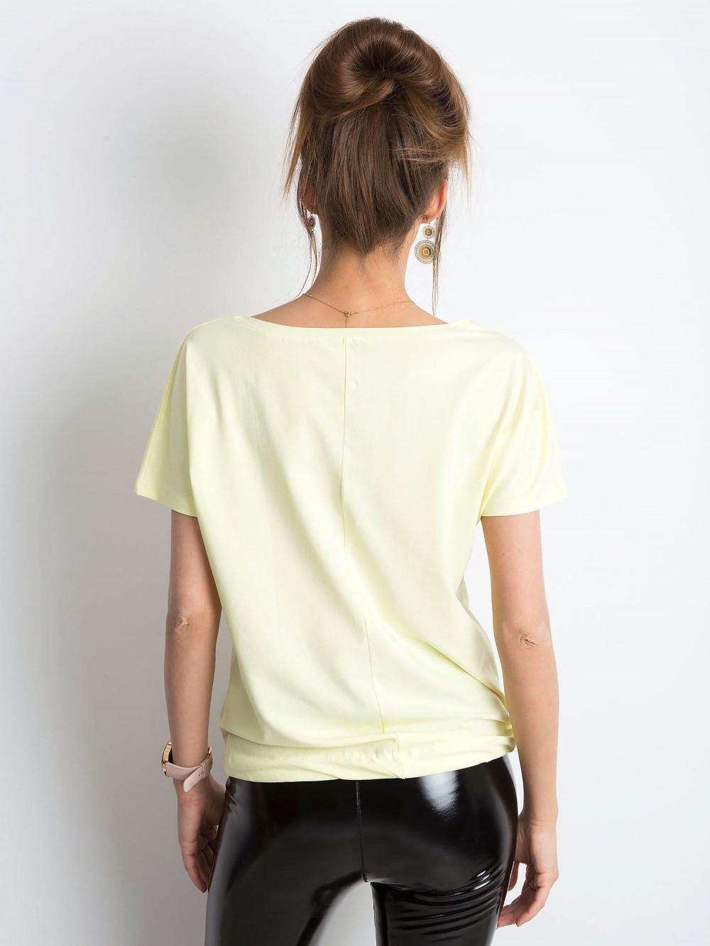 Jasnożółty t-shirt z wiązaniem Faso 4