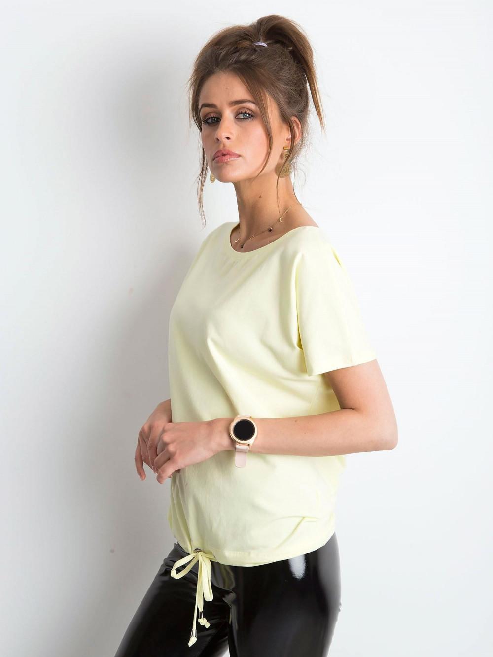 Jasnożółty t-shirt z wiązaniem Faso 2