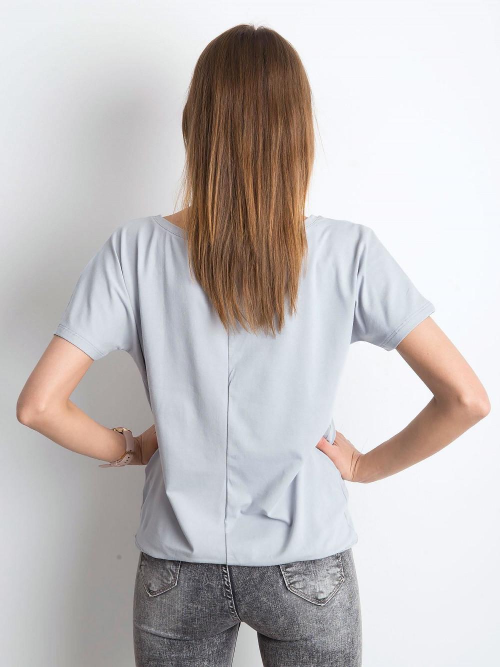 Jasnografitowy t-shirt z wiązaniem Faso 3