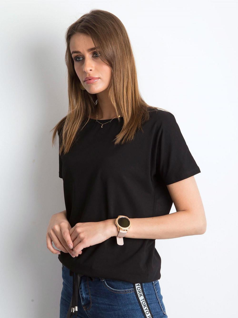 Czarny t-shirt z wiązaniem Faso 2