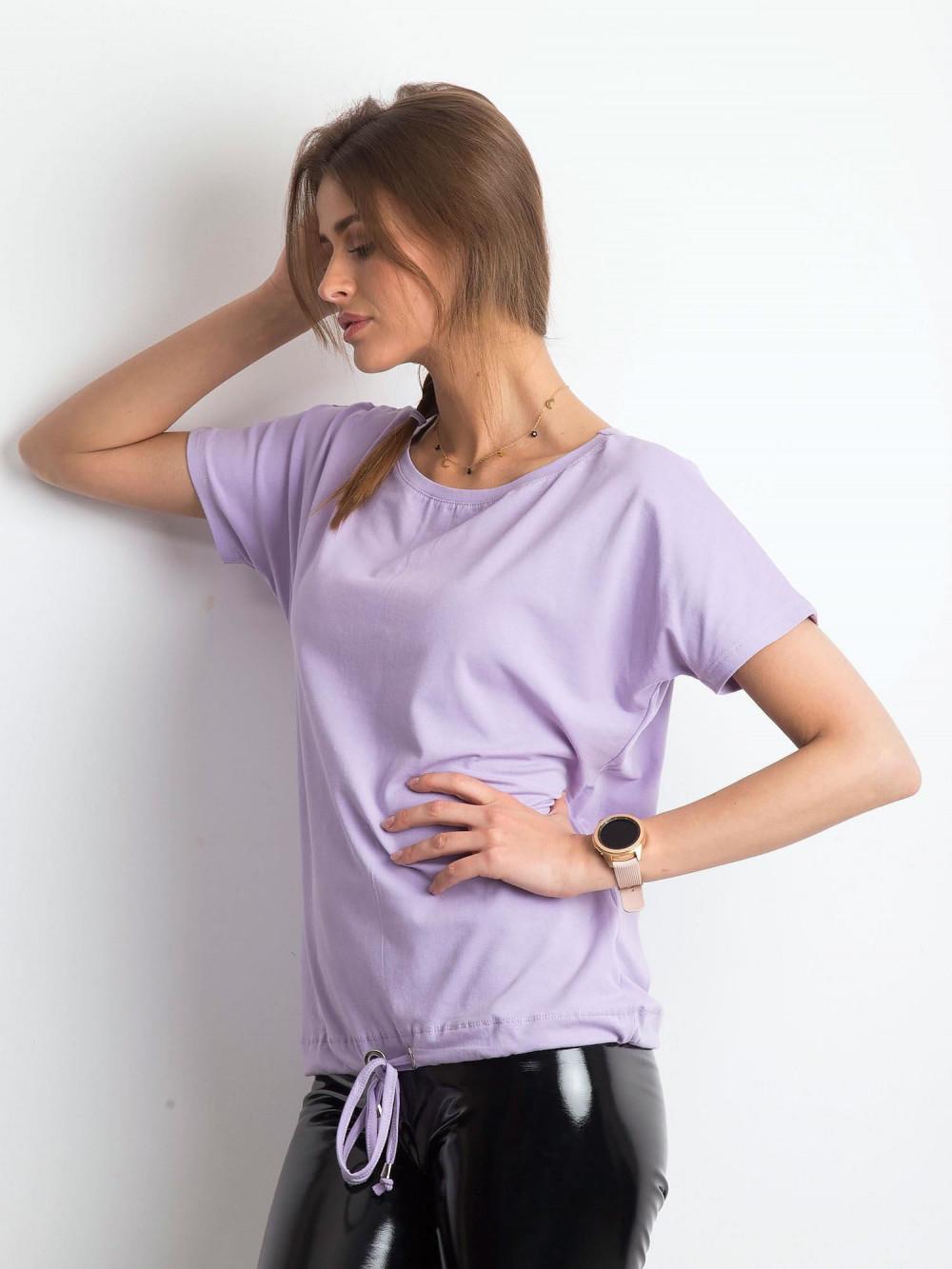Jasnofioletowy t-shirt z wiązaniem Faso 2