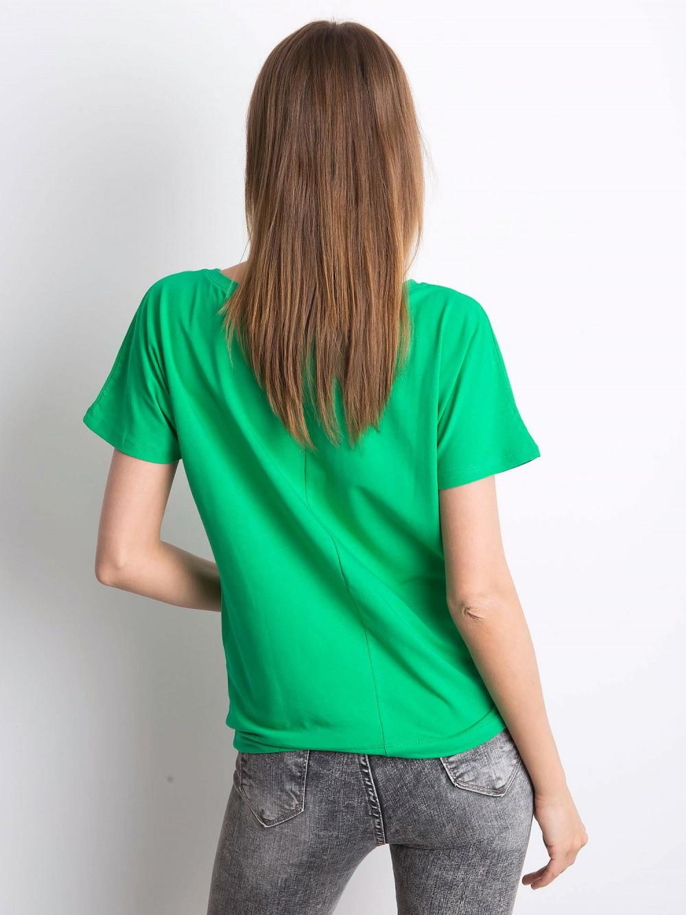 Zielony t-shirt z wiązaniem Faso 3