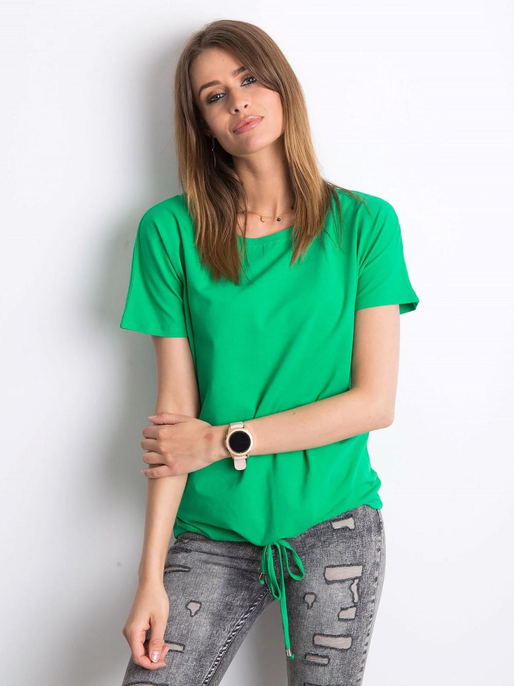 Zielony t-shirt z wiązaniem Faso 1