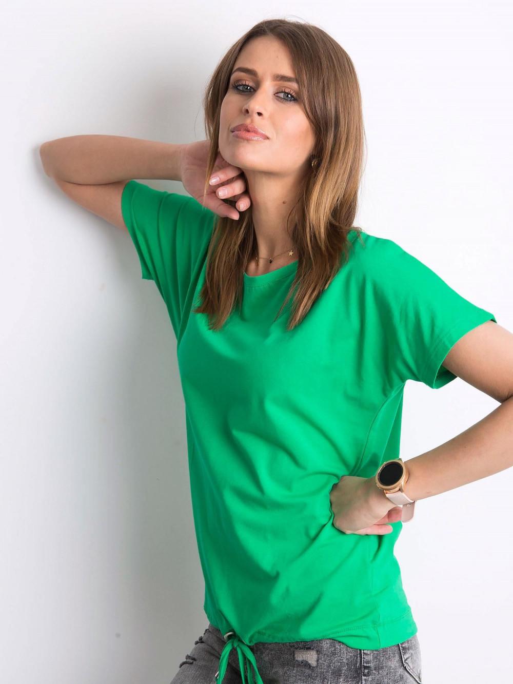 Zielony t-shirt z wiązaniem Faso 2