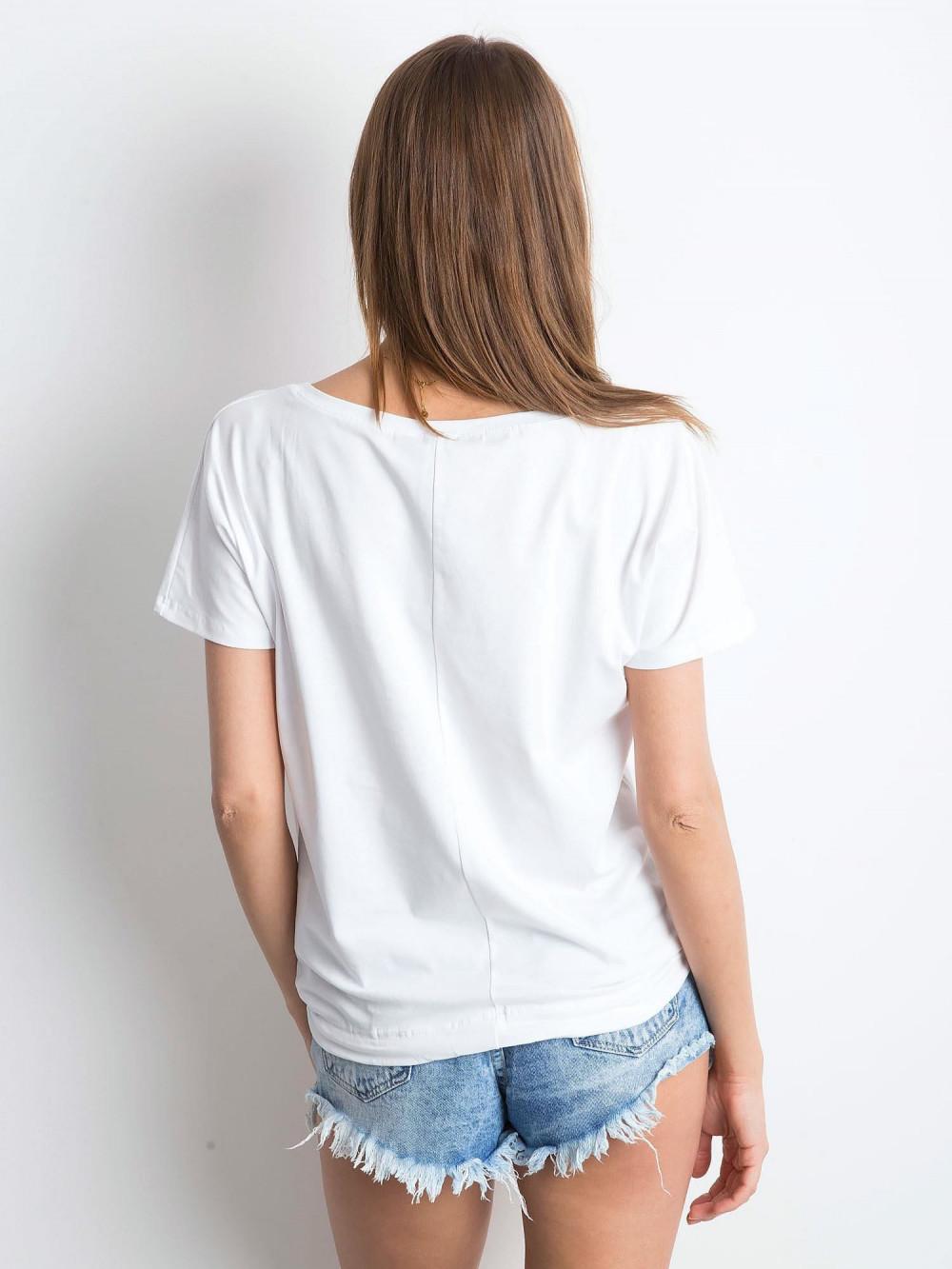 Biały t-shirt z wiązaniem Faso 3