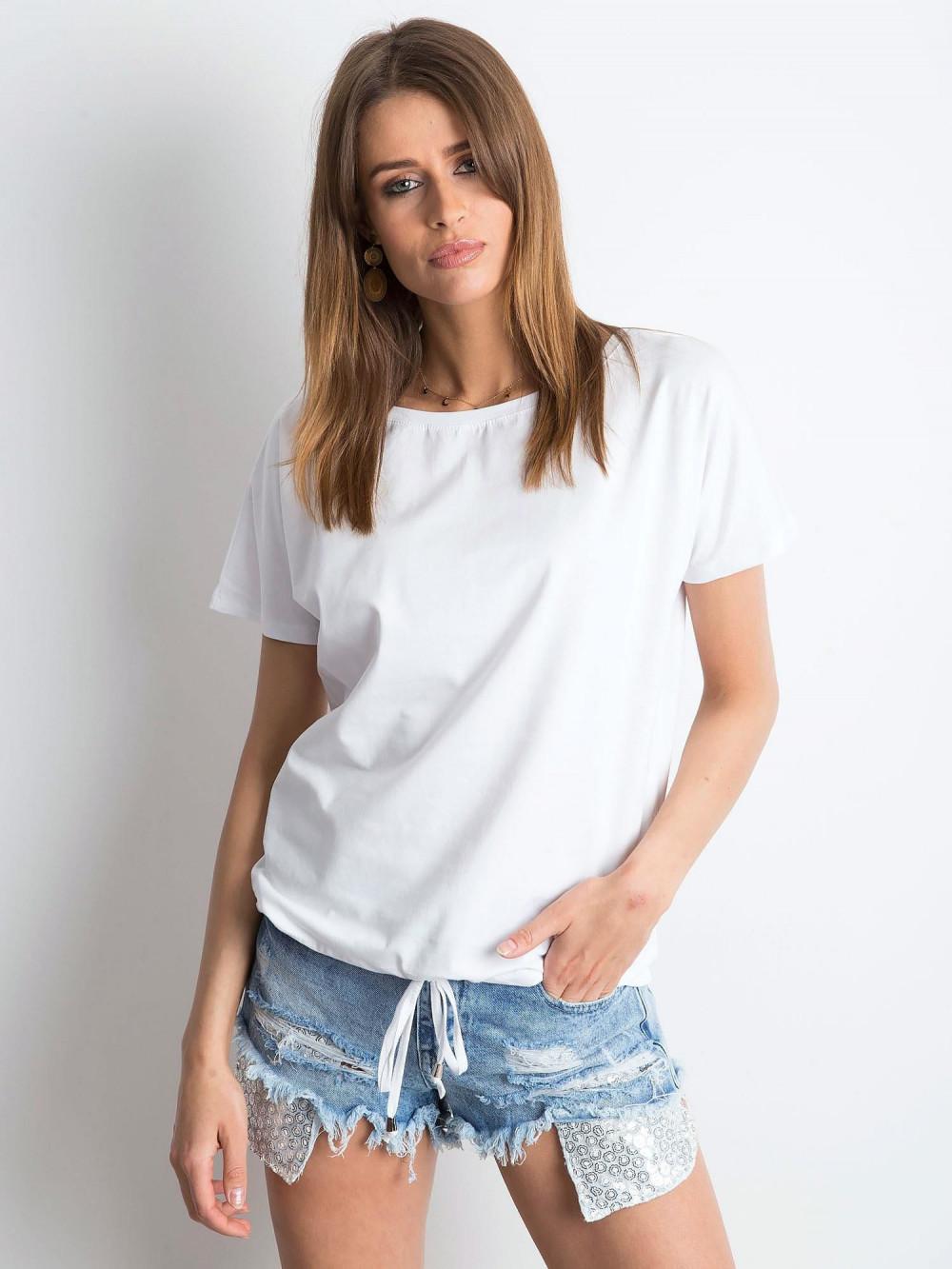 Biały t-shirt z wiązaniem Faso 1