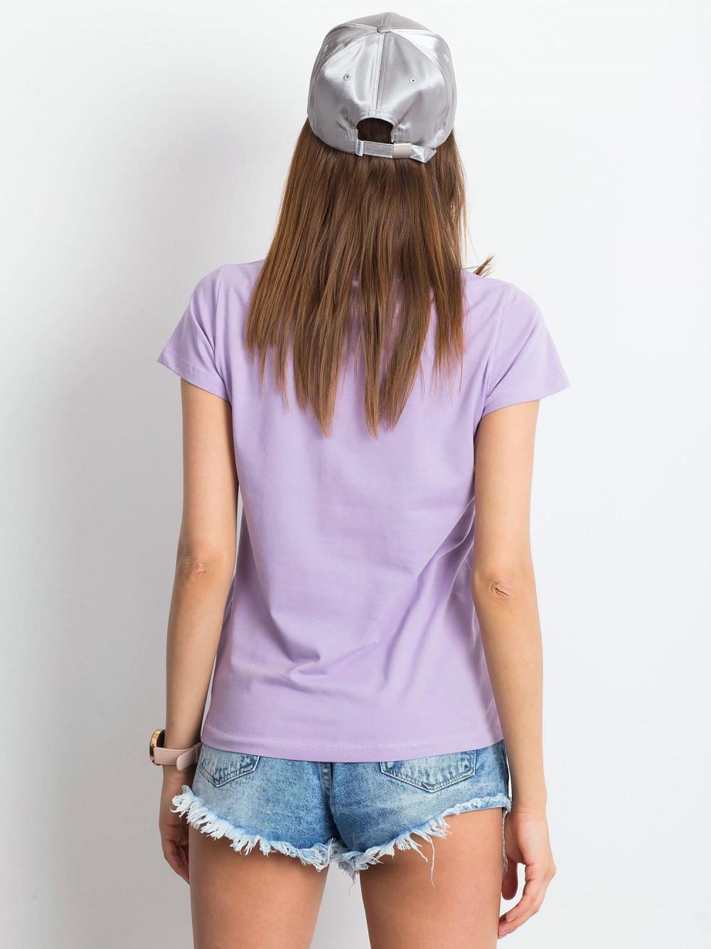 Jasnofioletowy t-shirt z dekoltem V-Neck Amy 3
