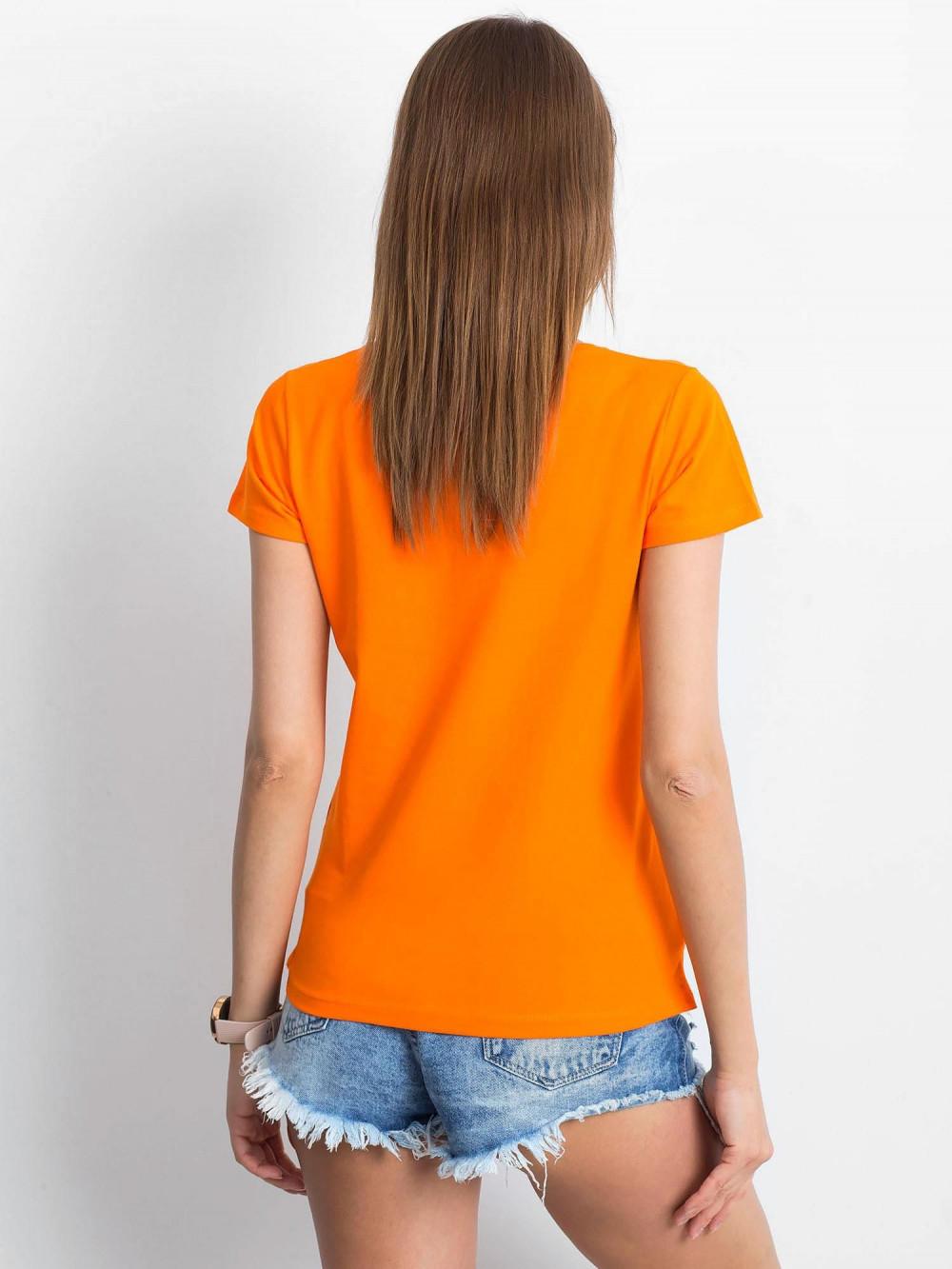 Pomarańczowy t-shirt z dekoltem V-Neck Amy 3