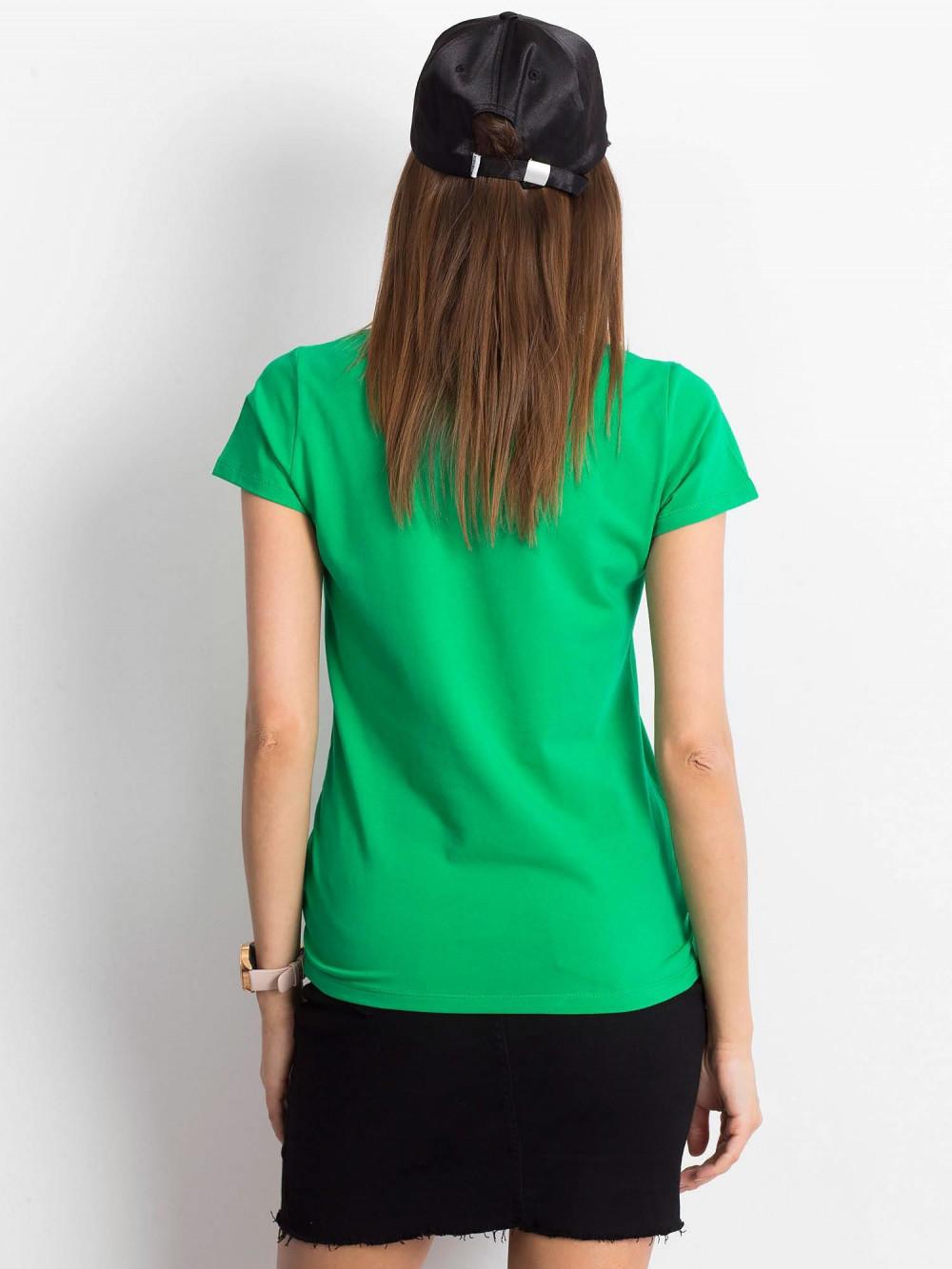 Zielony t-shirt z dekoltem V-Neck Amy 3