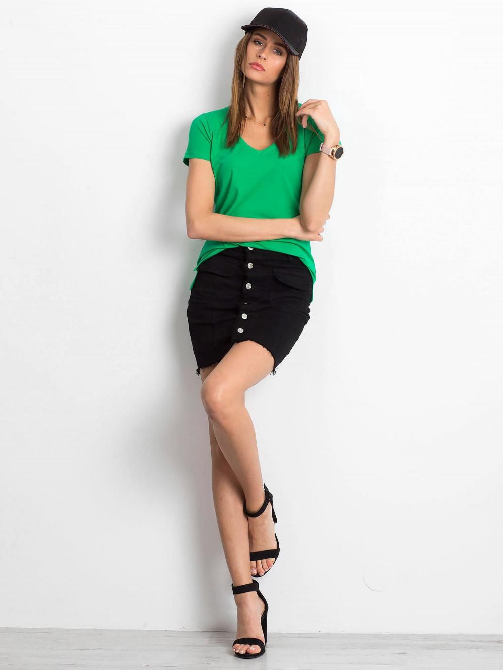 Zielony t-shirt z dekoltem V-Neck Amy 4