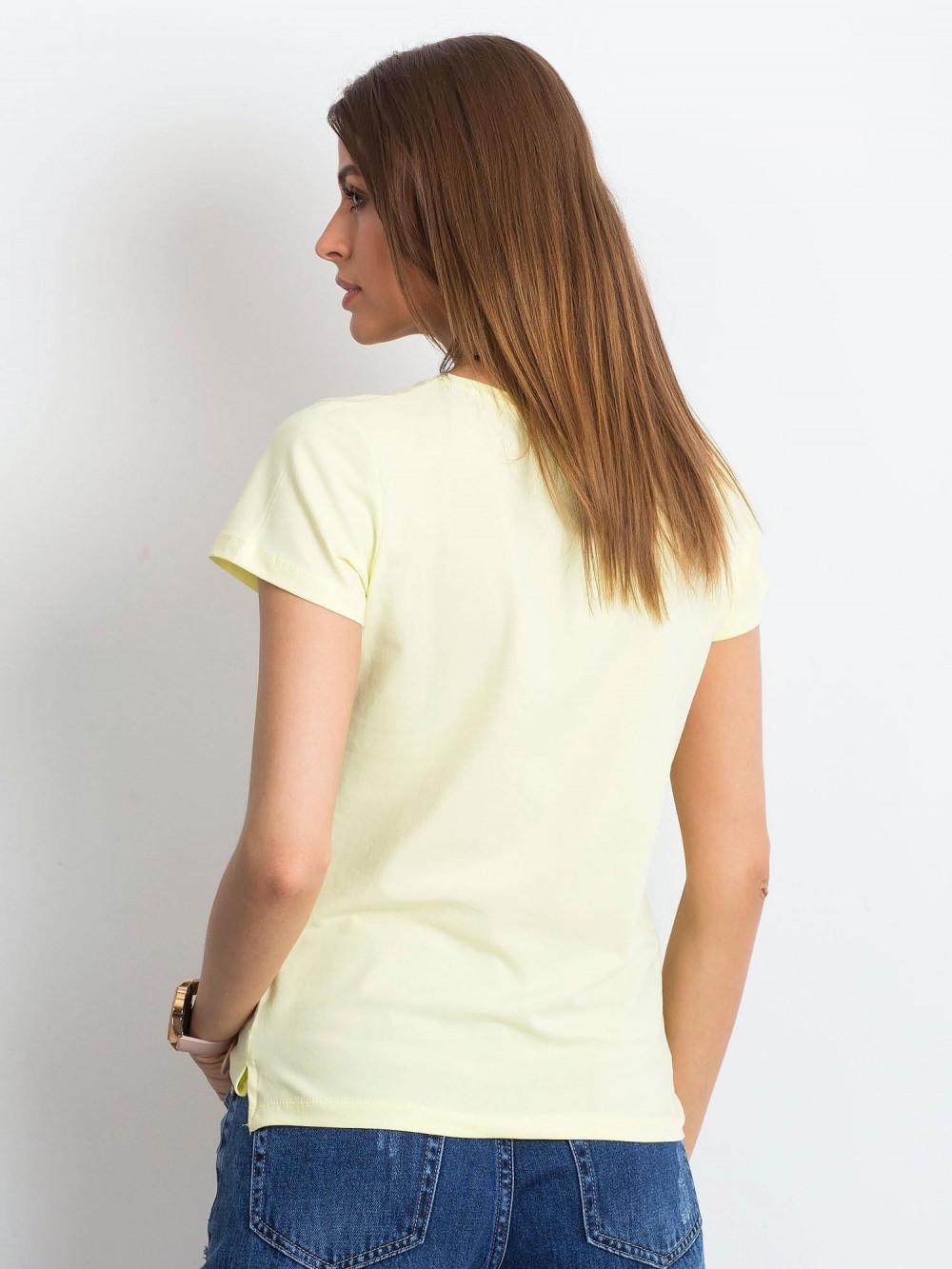 Jasnożółty t-shirt z dekoltem V-Neck Amy 3