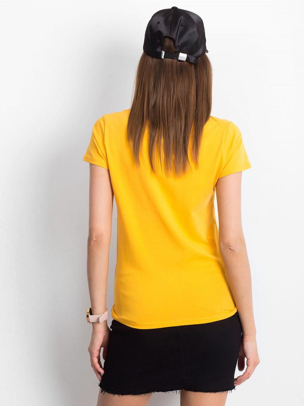 Jasnopomarańczowy t-shirt z dekoltem V-Neck Amy 3