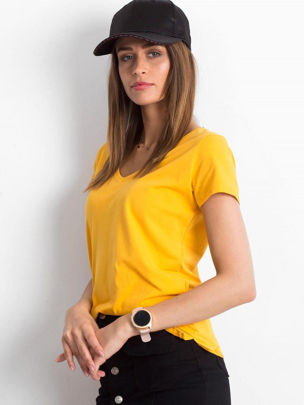 Jasnopomarańczowy t-shirt z dekoltem V-Neck Amy 2