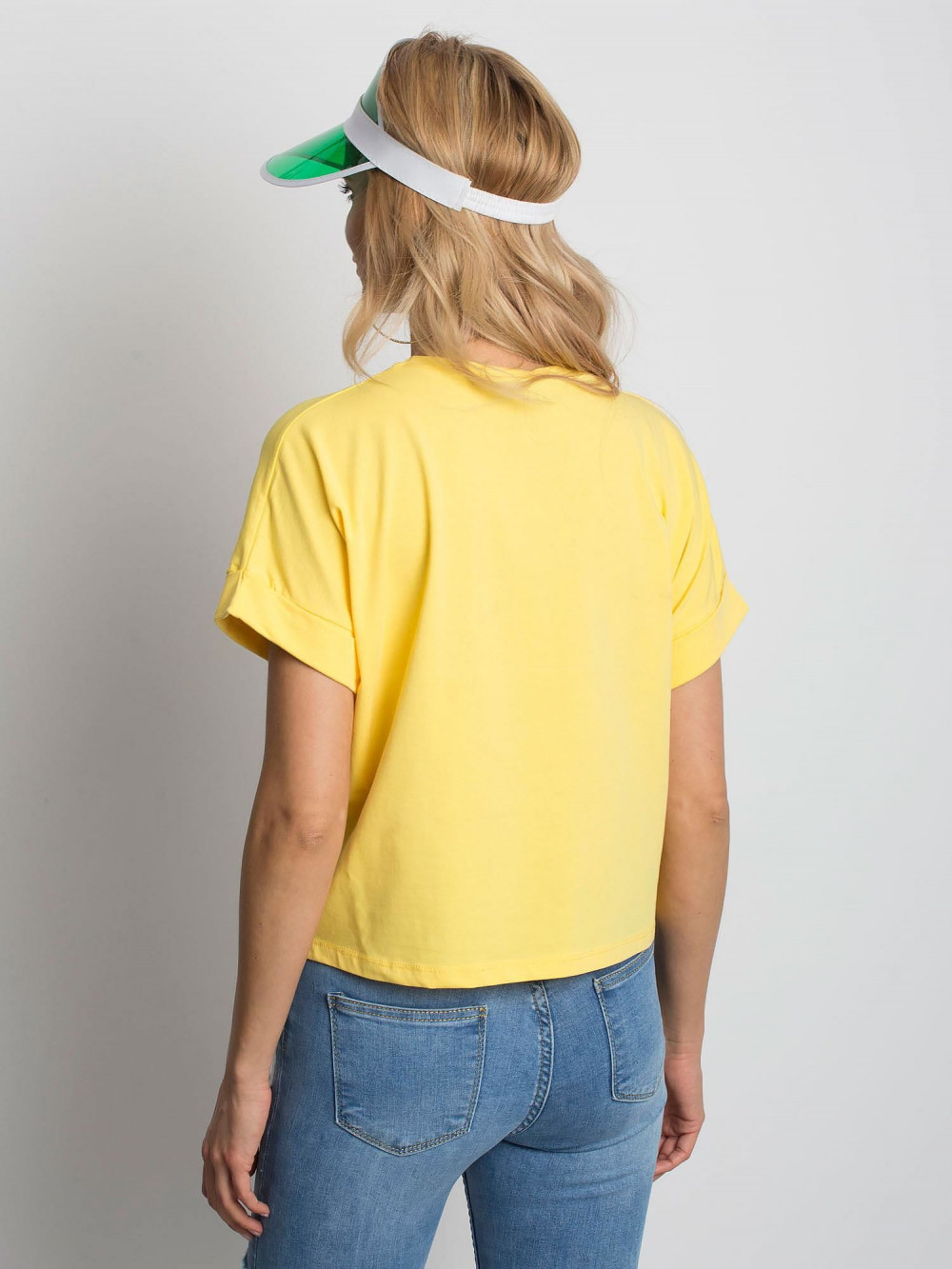 Żółty luźny t-shirt Blink 3