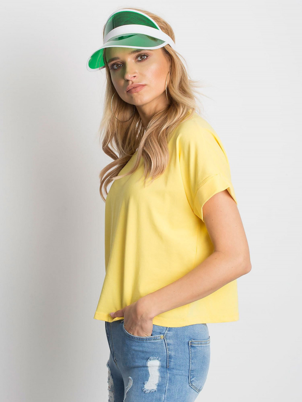 Żółty luźny t-shirt Blink 2