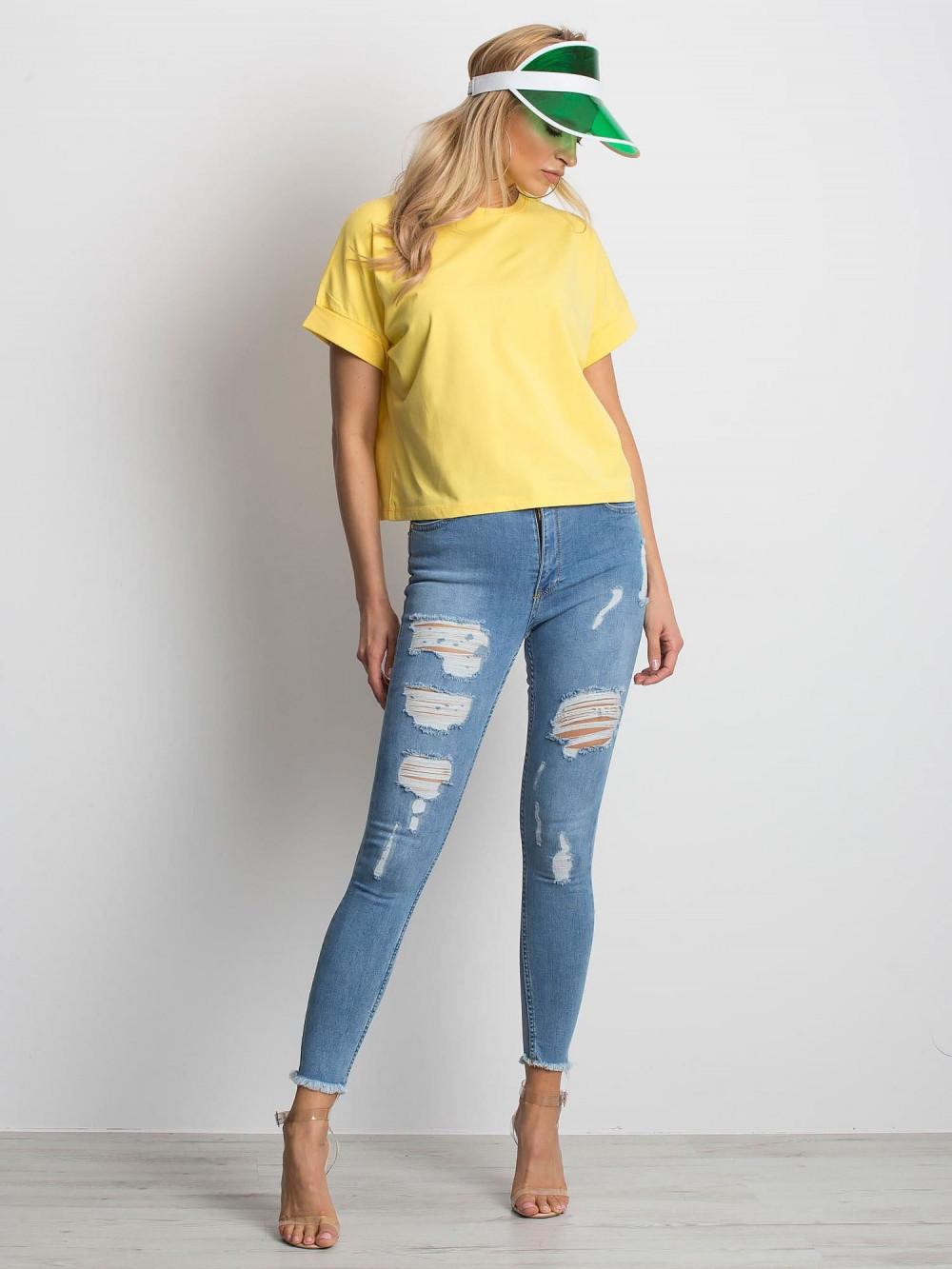Żółty luźny t-shirt Blink 4