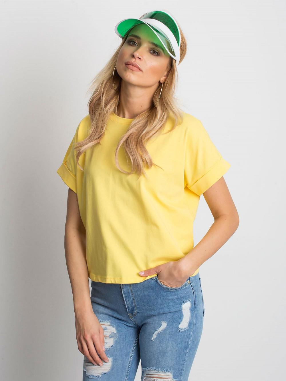 Żółty luźny t-shirt Blink 1