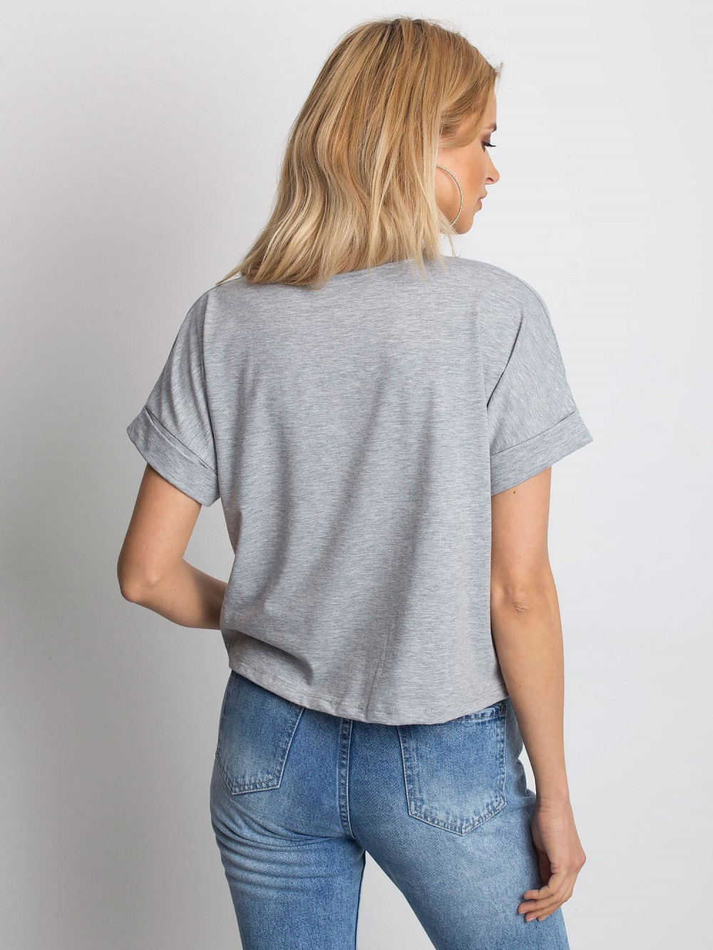 Szary luźny t-shirt Blink 4