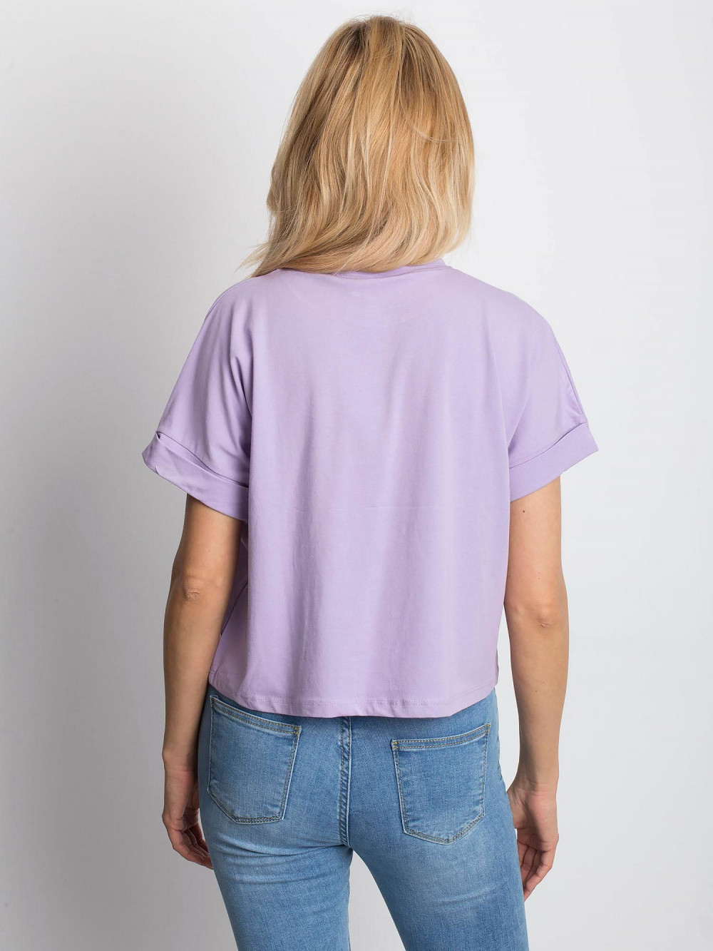 Jasnofioletowy luźny t-shirt Blink 4