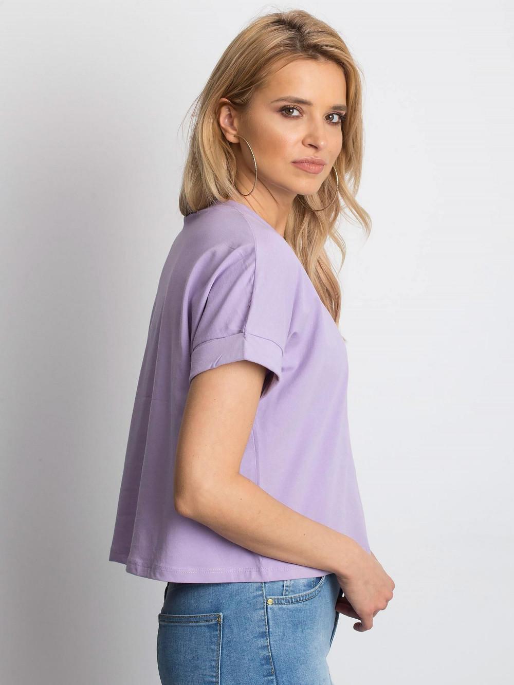 Jasnofioletowy luźny t-shirt Blink 2