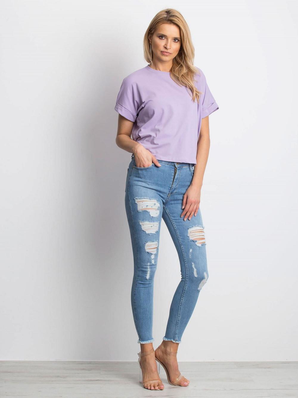 Jasnofioletowy luźny t-shirt Blink 3