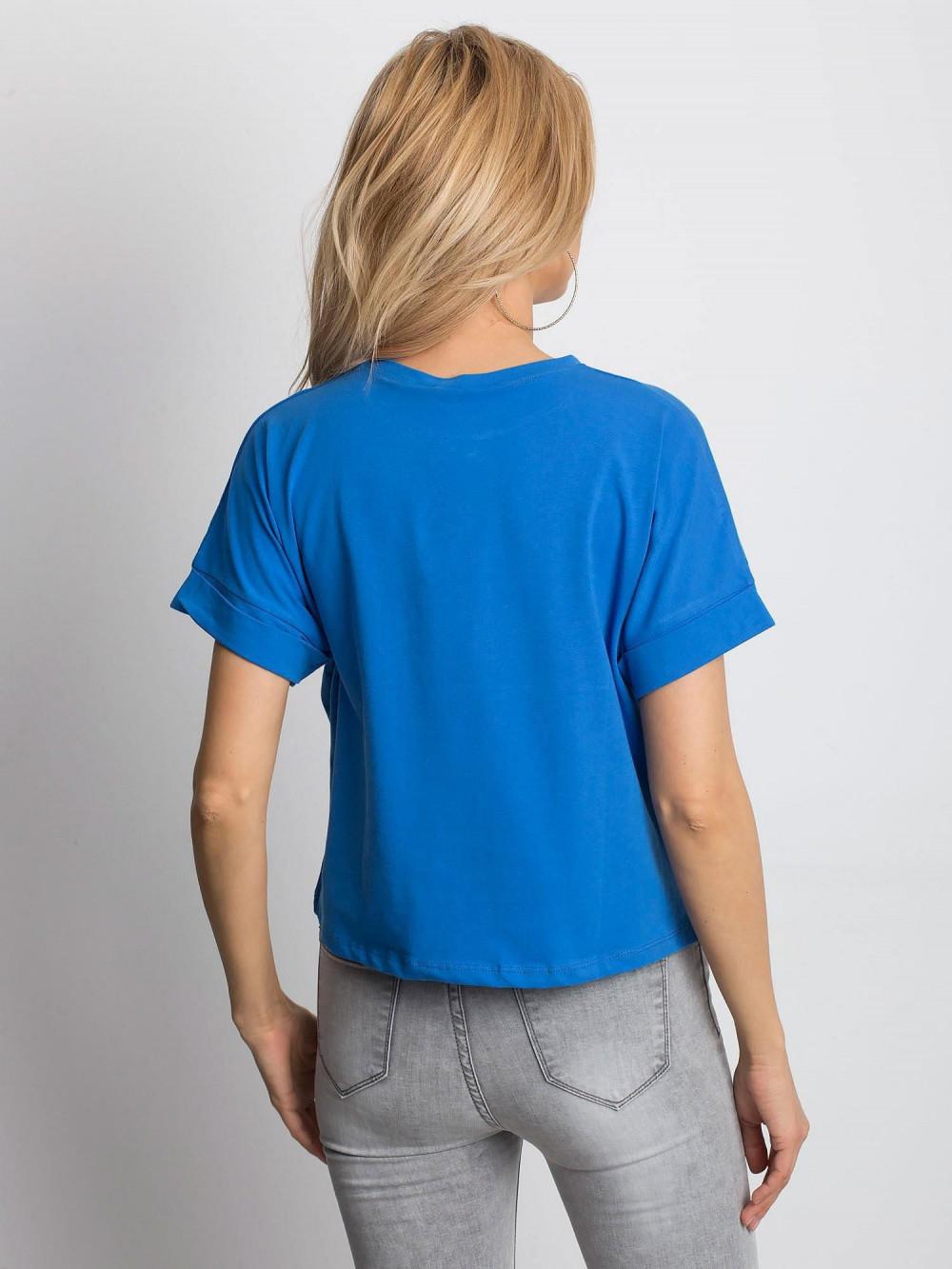 Ciemnoniebieski luźny t-shirt Blink 4
