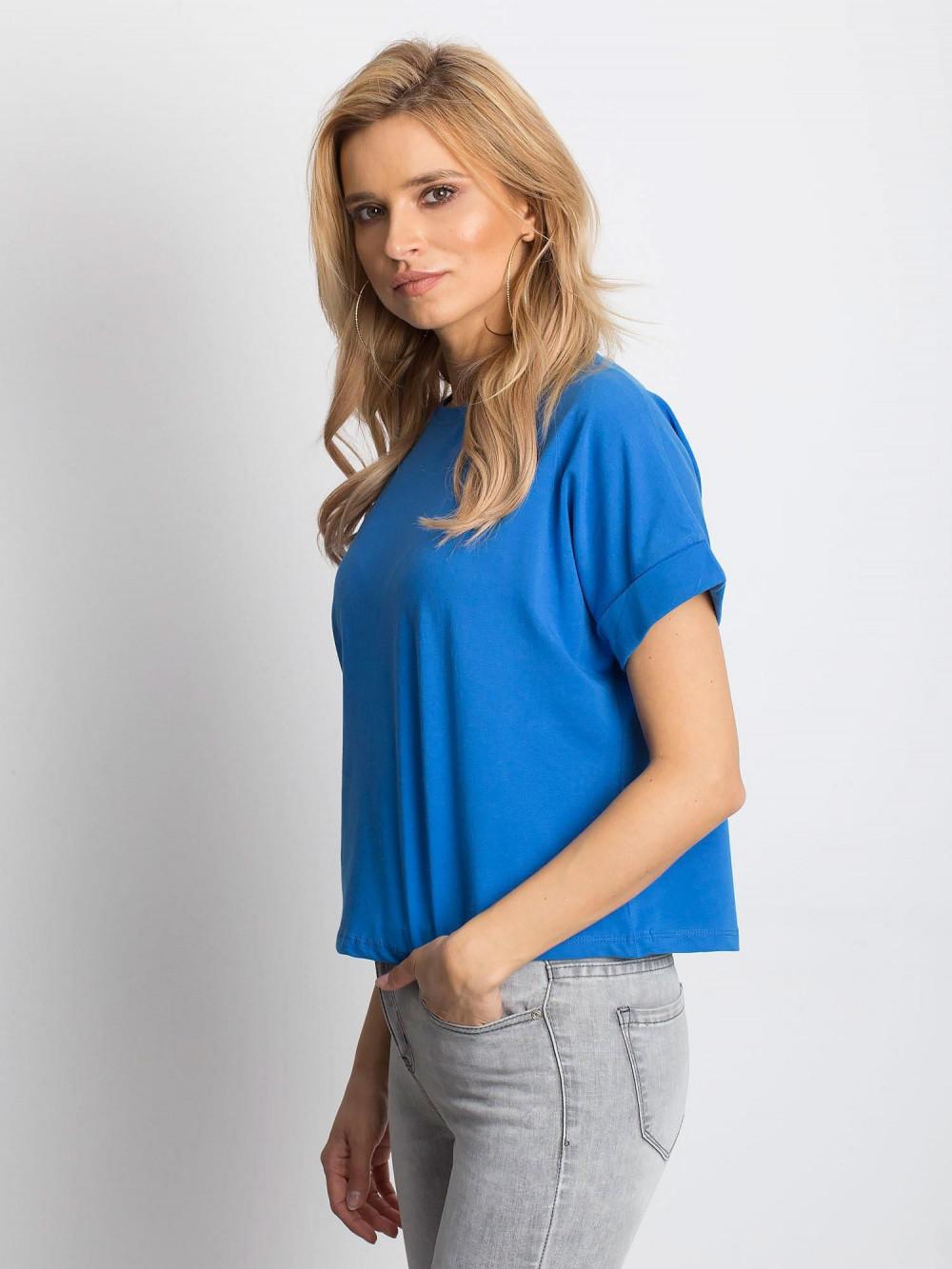 Ciemnoniebieski luźny t-shirt Blink 2