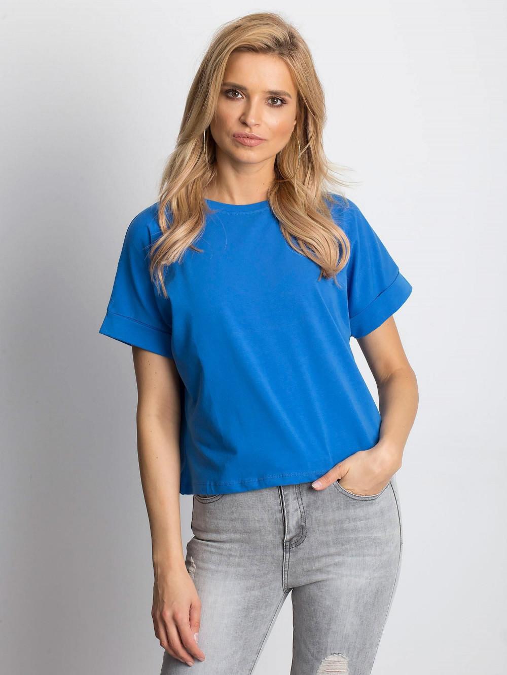 Ciemnoniebieski luźny t-shirt Blink 1
