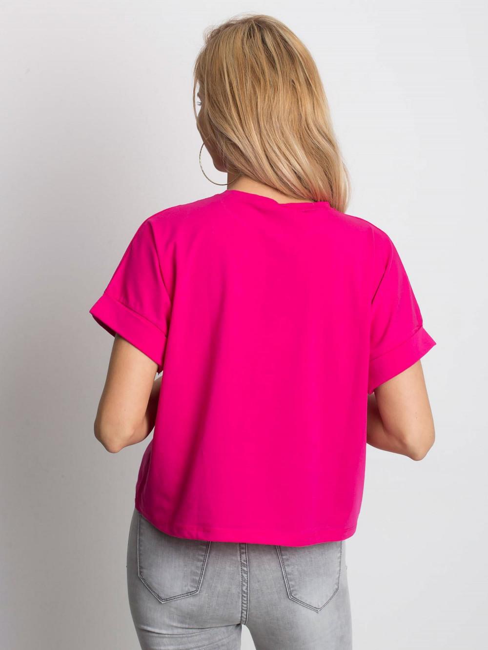 Fuksjowy luźny t-shirt Blink 4