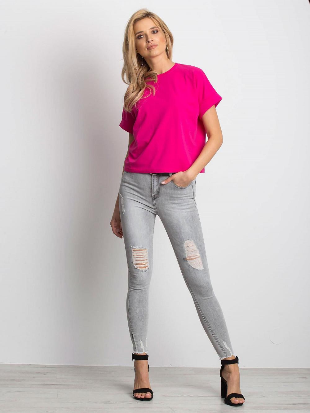 Fuksjowy luźny t-shirt Blink 3