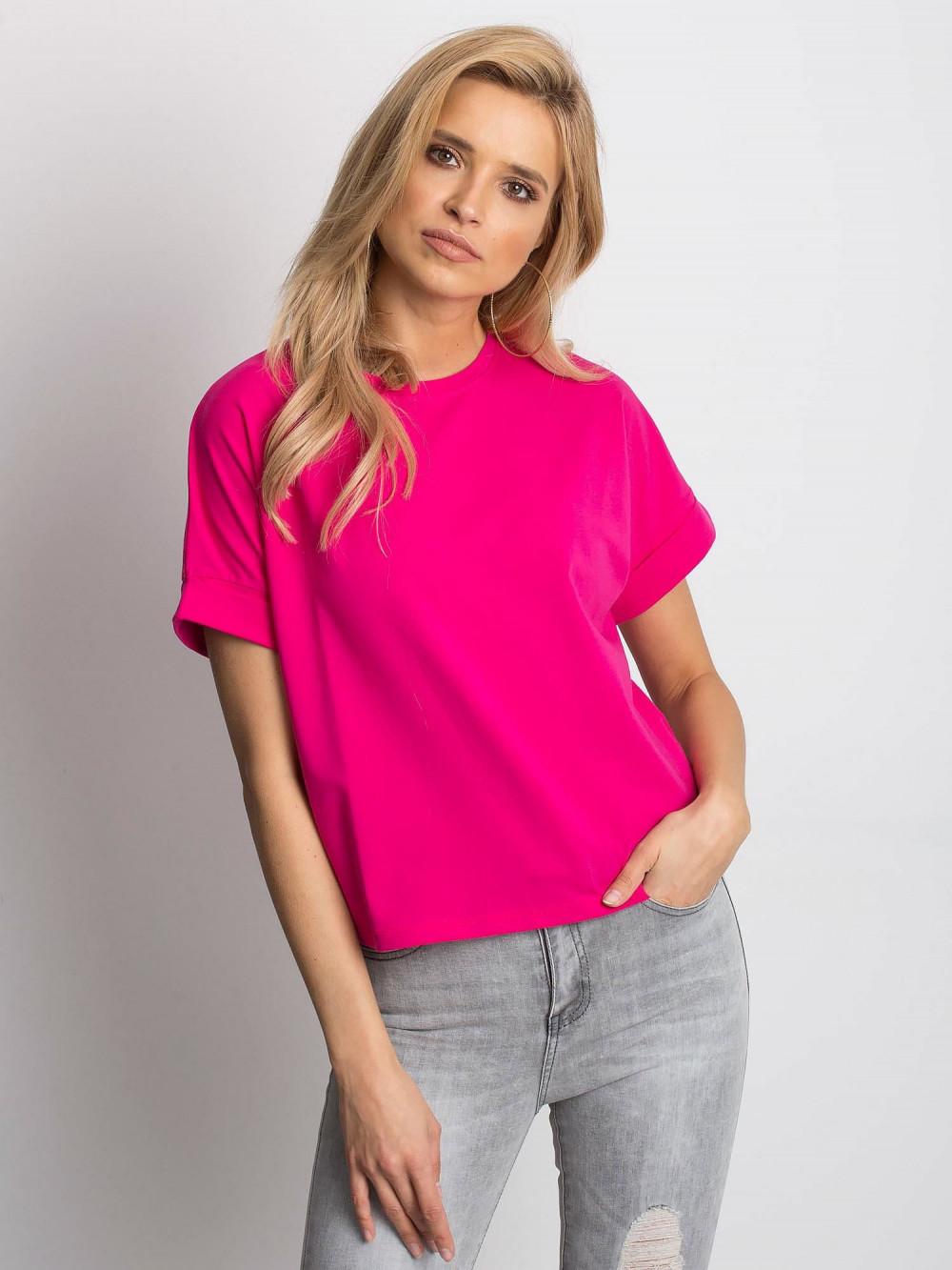 Fuksjowy luźny t-shirt Blink 1