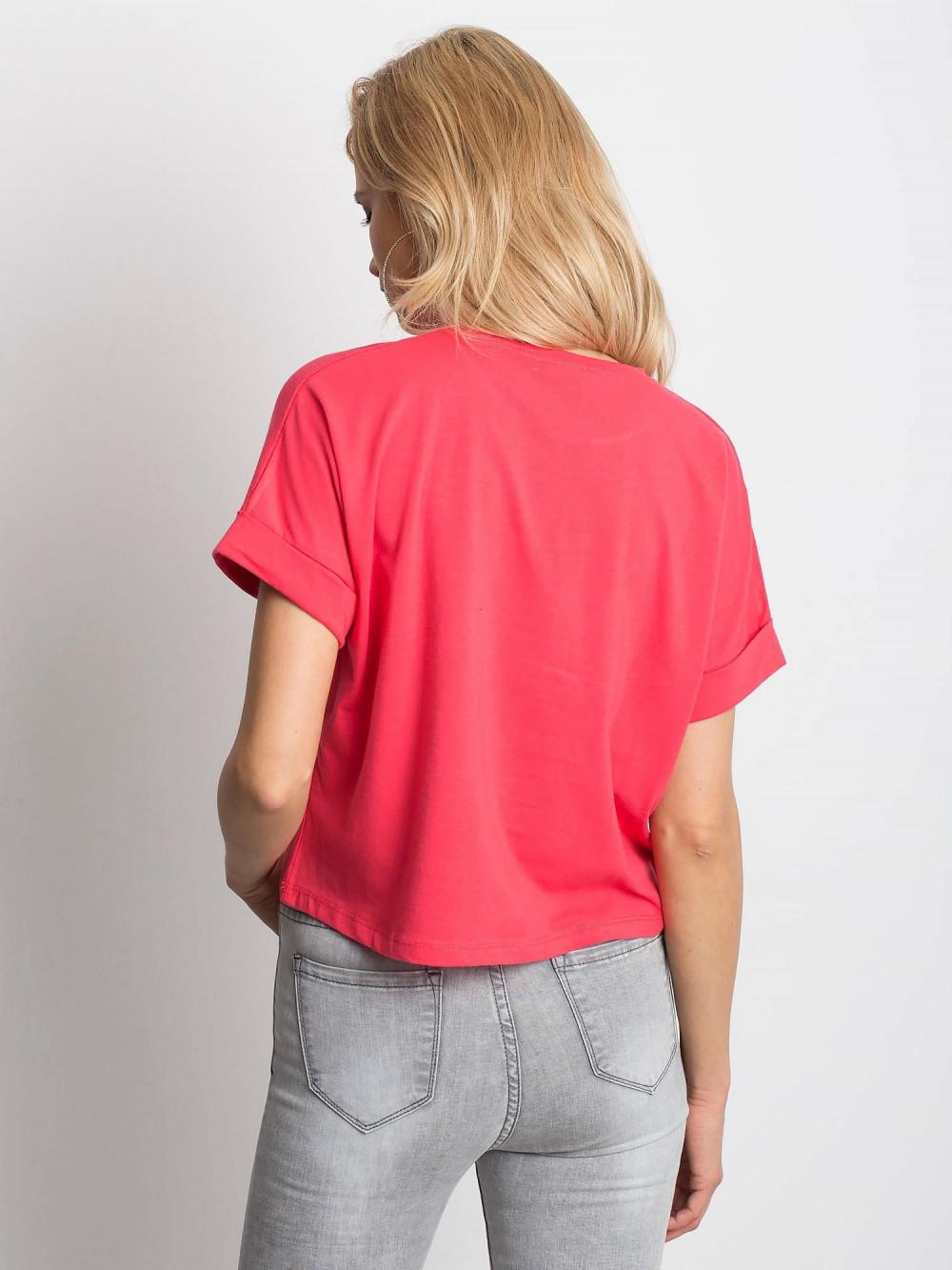 Koralowy luźny t-shirt Blink 4