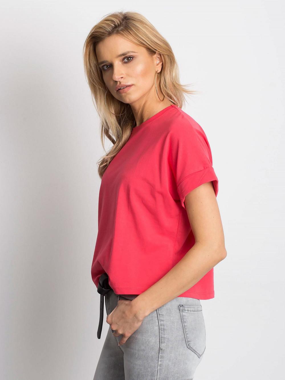 Koralowy luźny t-shirt Blink 2