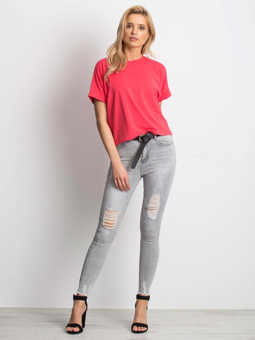 Koralowy luźny t-shirt Blink 3