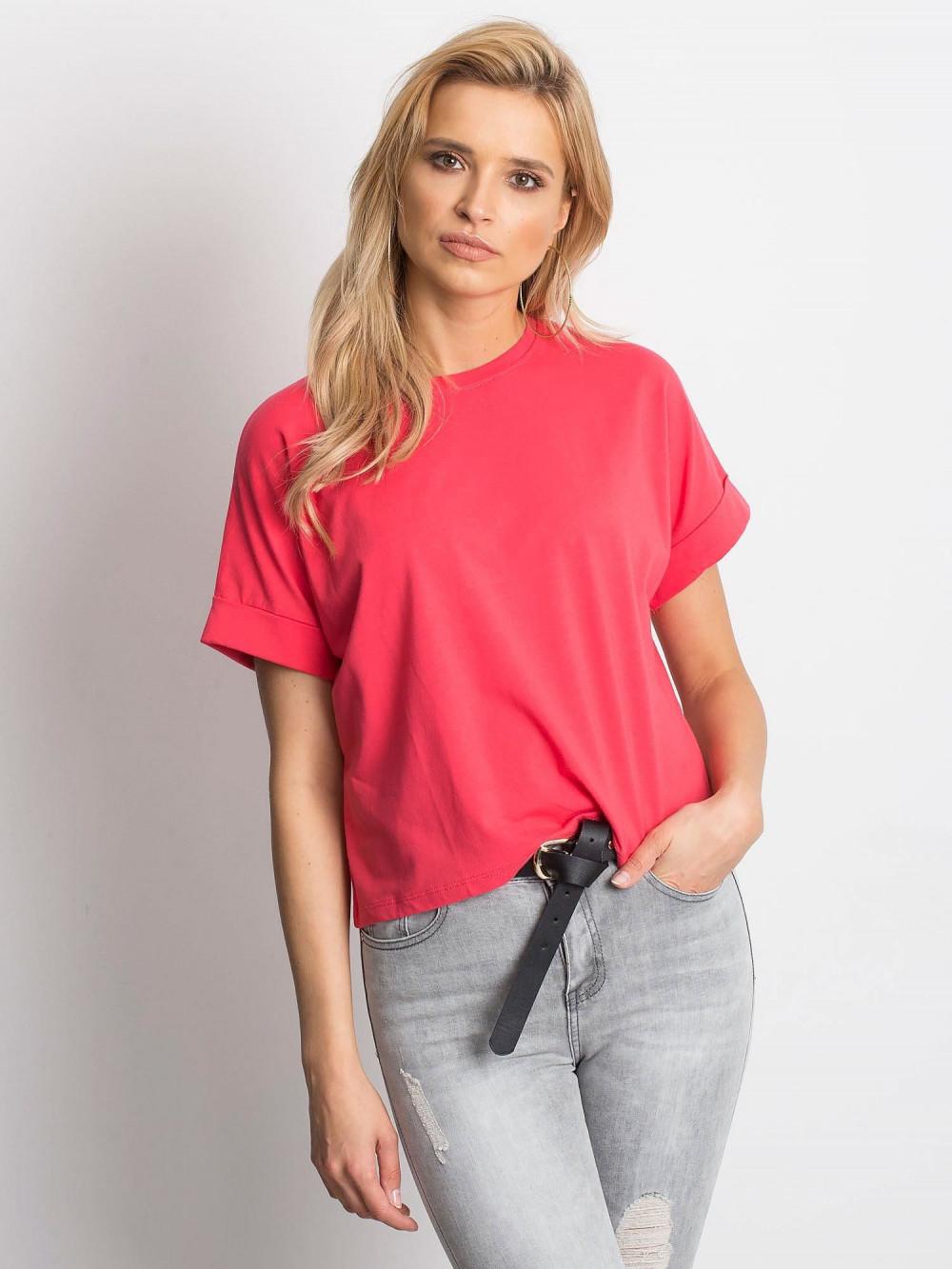 Koralowy luźny t-shirt Blink 1