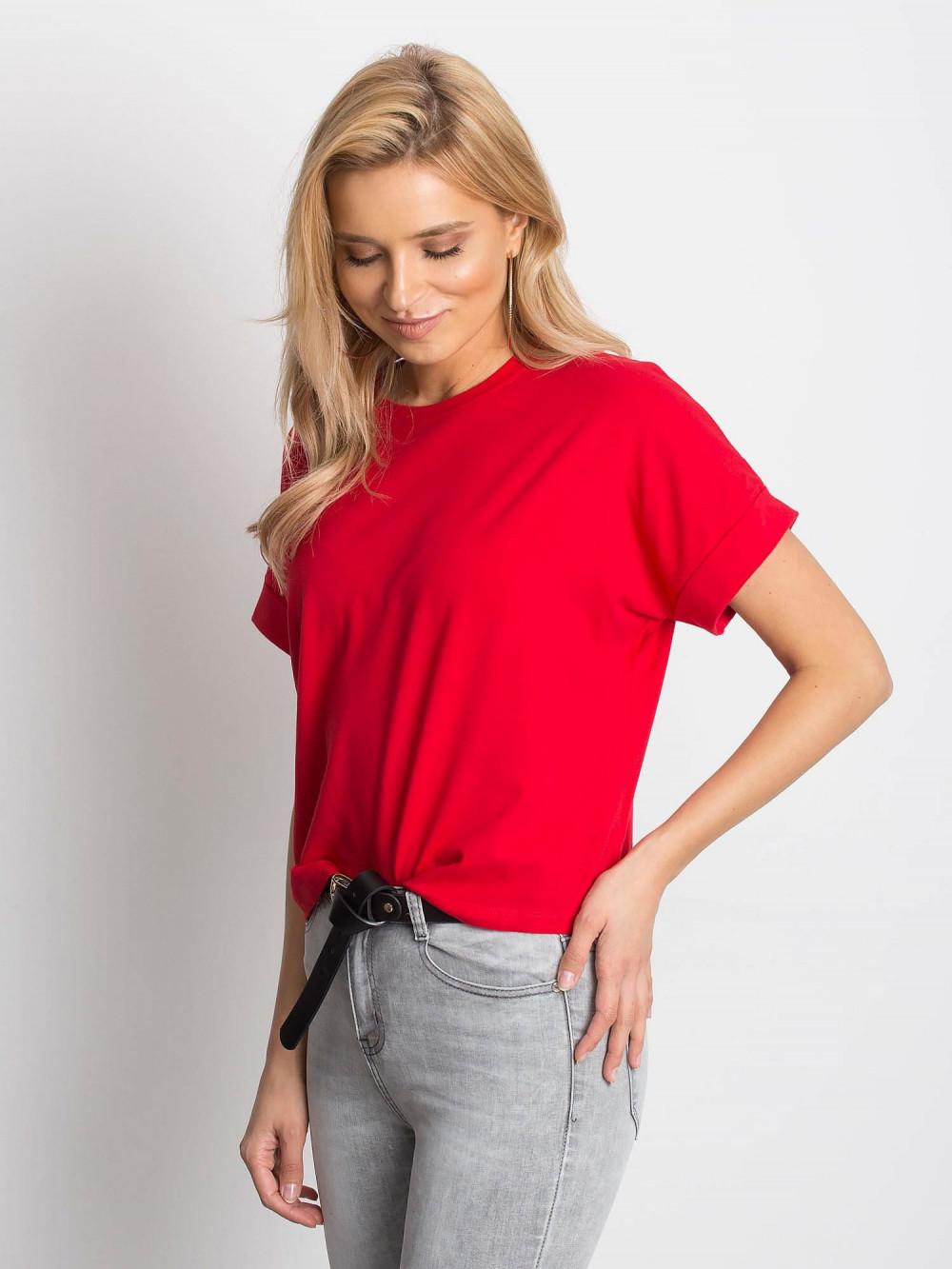 Czerwony luźny t-shirt Blink 2