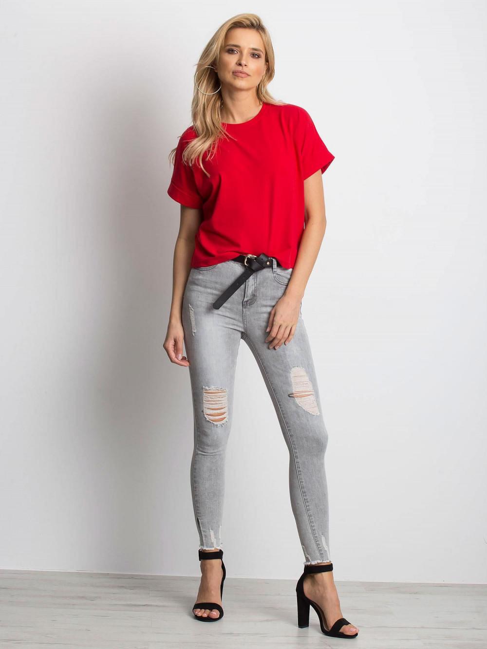 Czerwony luźny t-shirt Blink 3