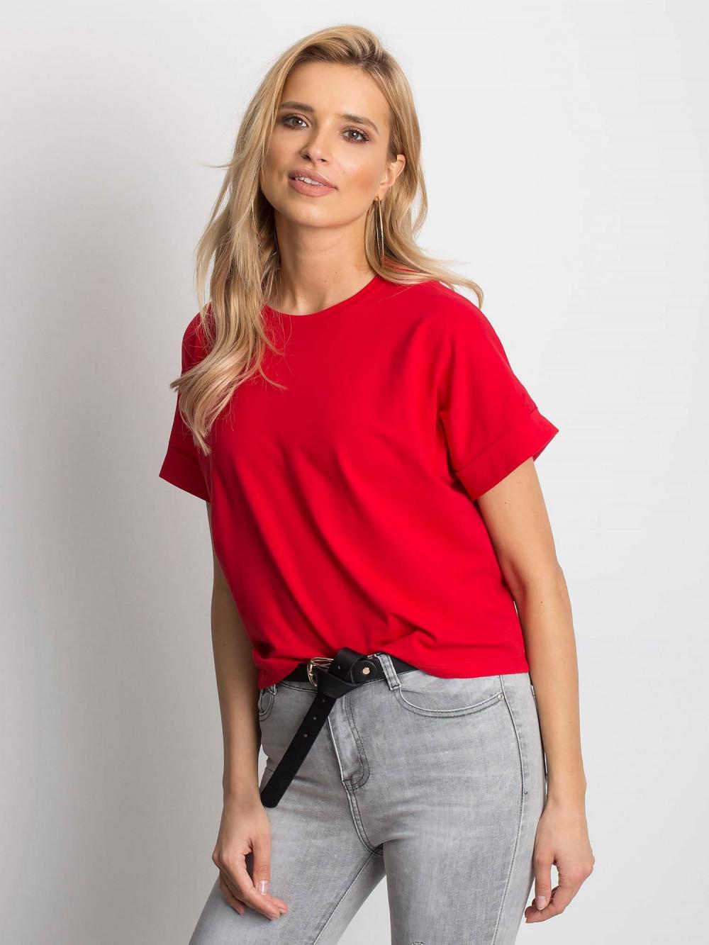 Czerwony luźny t-shirt Blink 1