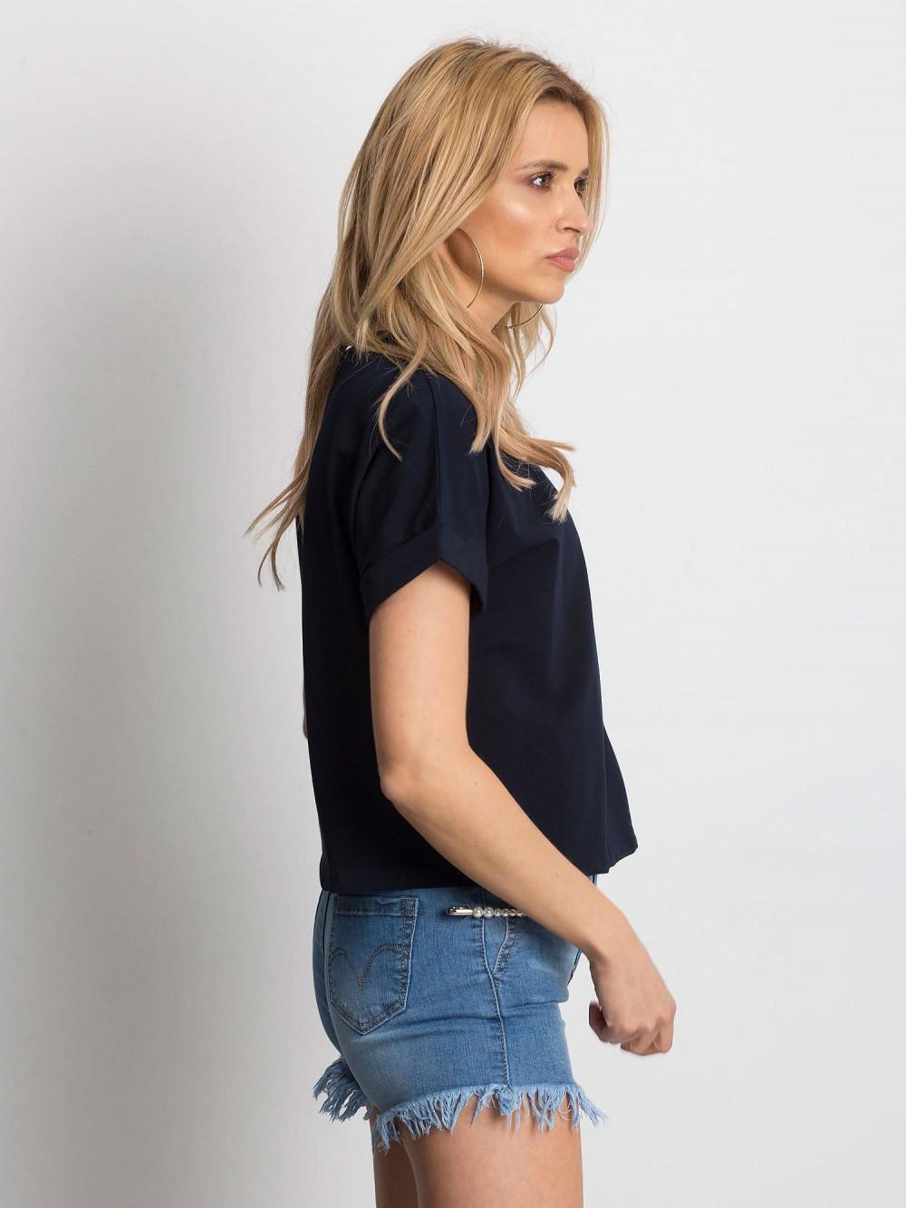 Granatowy luźny t-shirt Blink 2