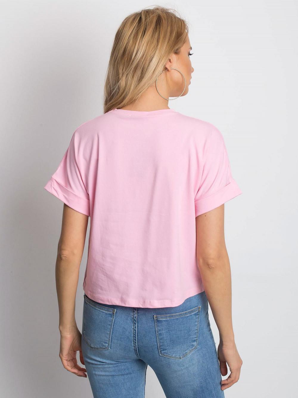 Różowy luźny t-shirt Blink 4