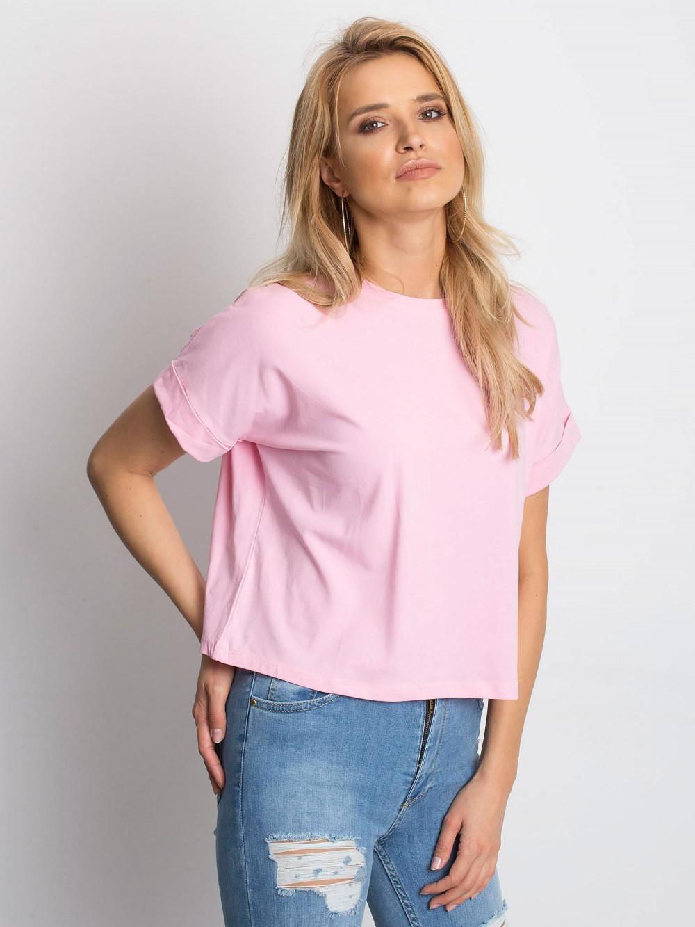 Różowy luźny t-shirt Blink 2