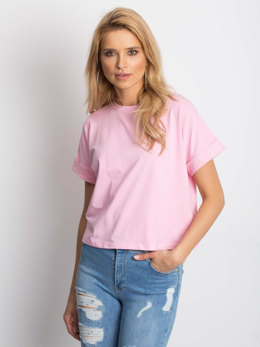Różowy luźny t-shirt Blink 1